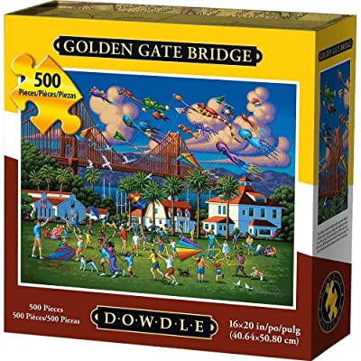 Dowdle Jigsaw Puzzle - Golden Gate Bridge - 500 Piece: Toys & Games