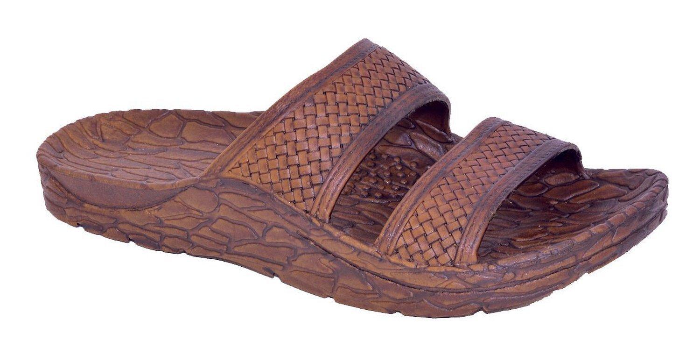 Pali Hawaii Men's Mandals Slide Sandal-Brown-Size 9