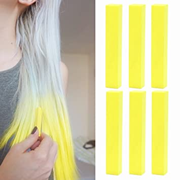 Amazon neon yellow hair dye special yellow hair effects neon yellow hair dye special yellow hair effects crazy hair color vibrant yellow temporary pmusecretfo Images