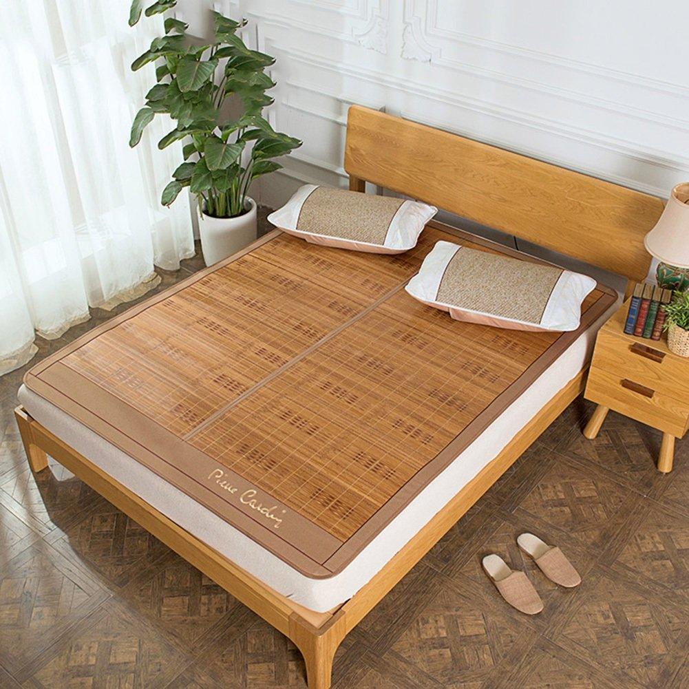 WENZHE Bambus Matratzen Sommer-Schlafmatten Strohmatte Teppiche Falten Doppelt Gratfrei Doppelseitige Verwendung Zuhause, 3 Stile, 1,5/1,8 M