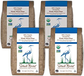 product image for Great River Organic Milling, Bread Flour, All Purpose Whole Wheat Flour, Stone Ground, Organic, 2-Pounds (Pack of 4)