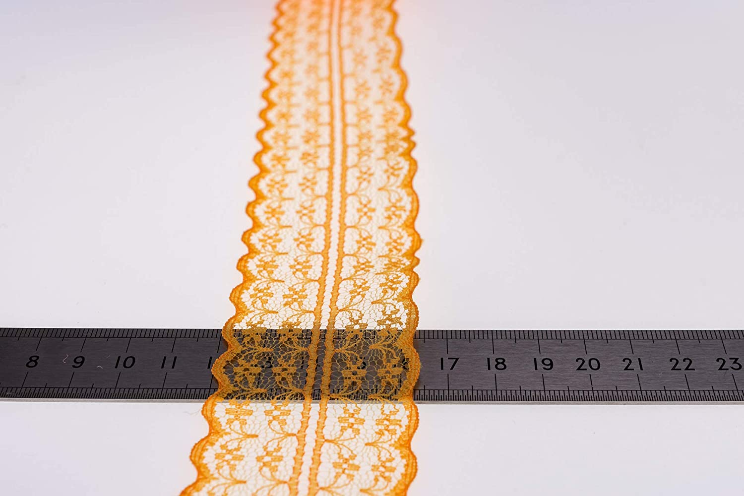 Orange ATRibbons 25 Yards 1-3//4 Inch Wide Floral Pattern Lace Trim Roll Colorful Lace Fabric Ribbon for Sewing Making,Gift Wrapping and Bridal Wedding Decorations
