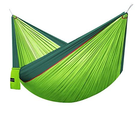 Portable Outdoor Camping Hammock With Mosquito Net Parachute Fabric Simple Tent In The Tree Outdoor Travel Picnic Hiking Bright In Colour Camp Sleeping Gear
