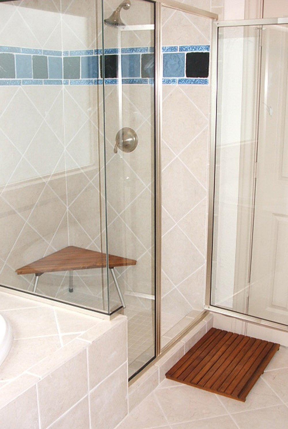 Teak Shower/Bath Mat (20'' x 14'')