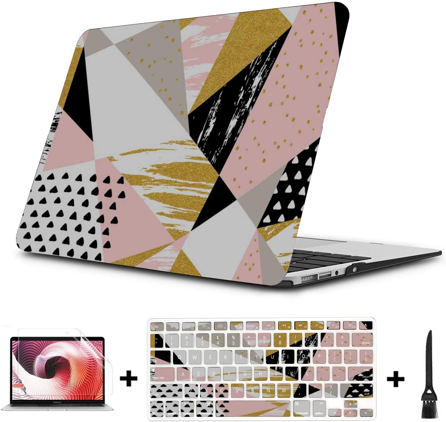 MacBook Air A1466 Case Abstract Colorful Creative Painting Plastic Hard Shell Compatible Mac Air 11 Pro 13 15 Mac Book Case Protection for MacBook 2016-2019 Version