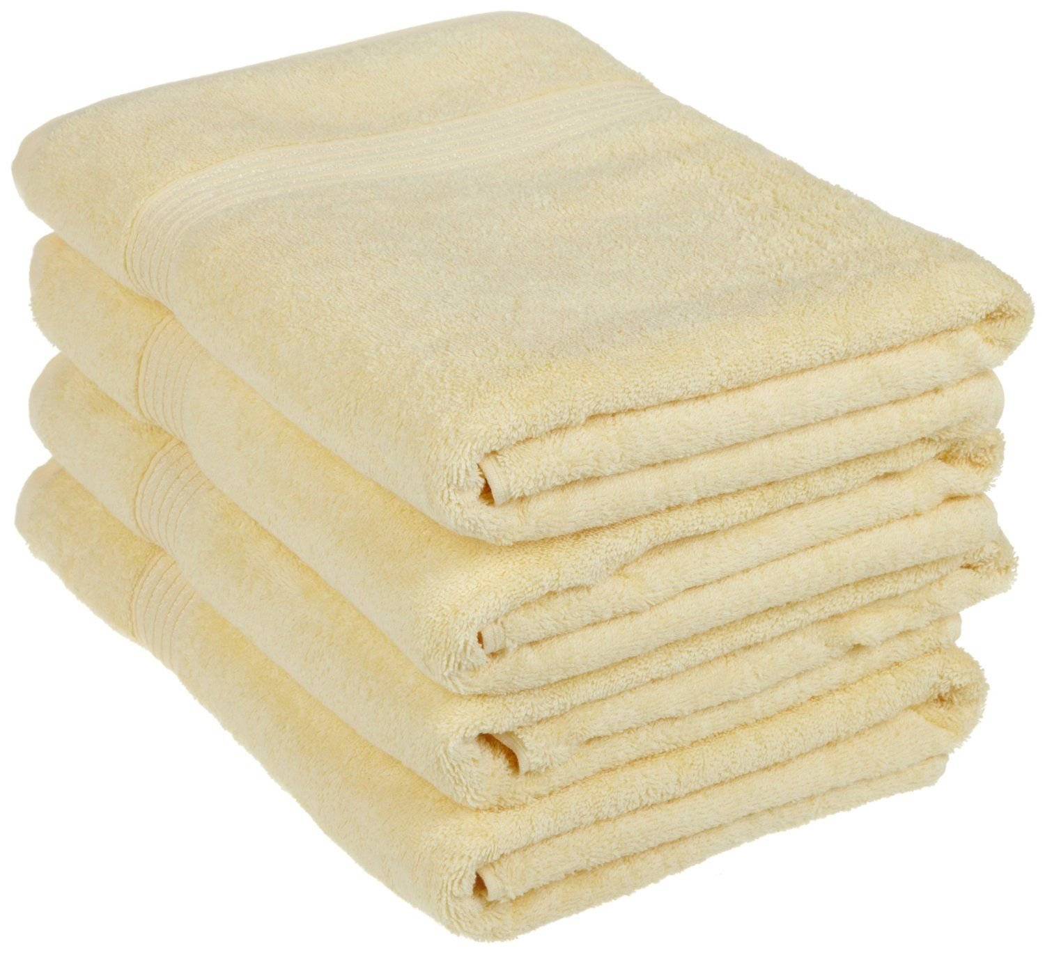 Superior Luxurious Soft Hotel & Spa Quality Bath Towel Set of 4, Made of 100% Premium Long-Staple Combed Cotton - Canary, 30'' x 54'' each