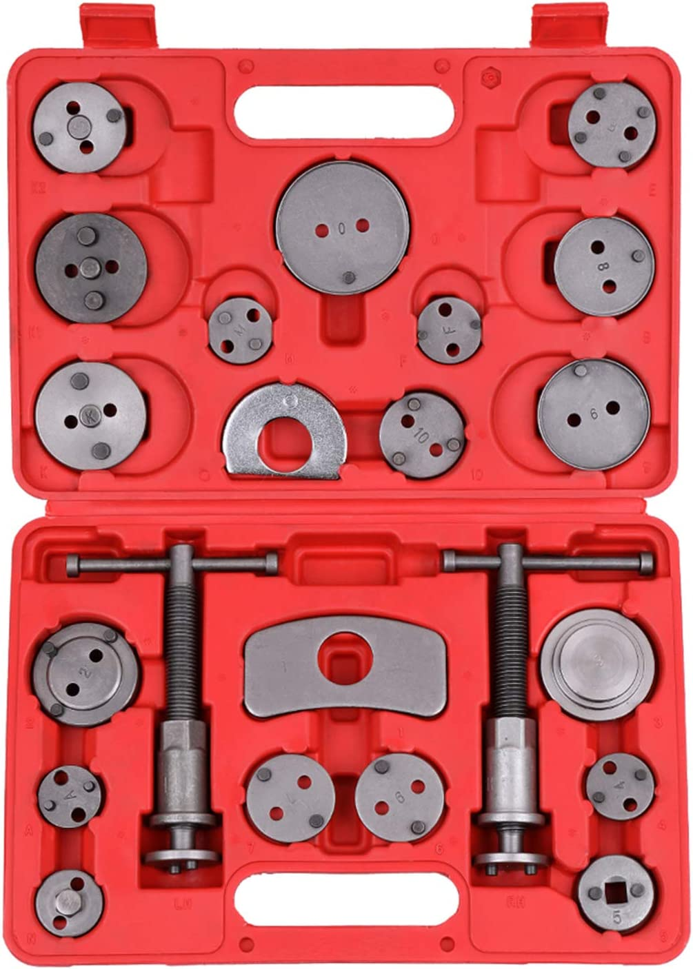 Reposicionador de Pistones de Freno, KKmoon Herramienta para Pastillas de Frenos 22pcs,Compresor Pistones Freno Kit Universal