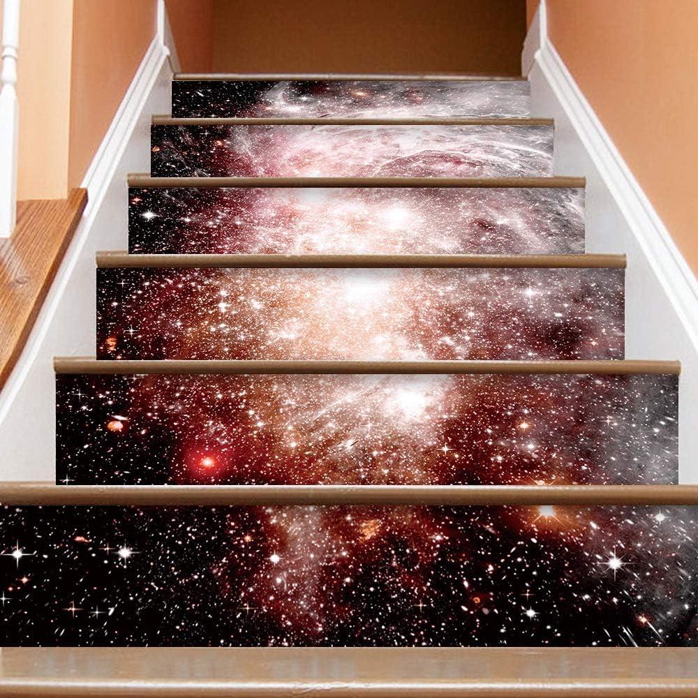 Sikungjlk Calcomanías para escaleras Universo 3D Galaxia Escalera Estrellada Escaleras Decoración Fotomural Vinilo Decal Wallpaper Mural Wallpaper Mural (Color : Multi-Colored, Size : 100 * 18CM): Amazon.es: Hogar