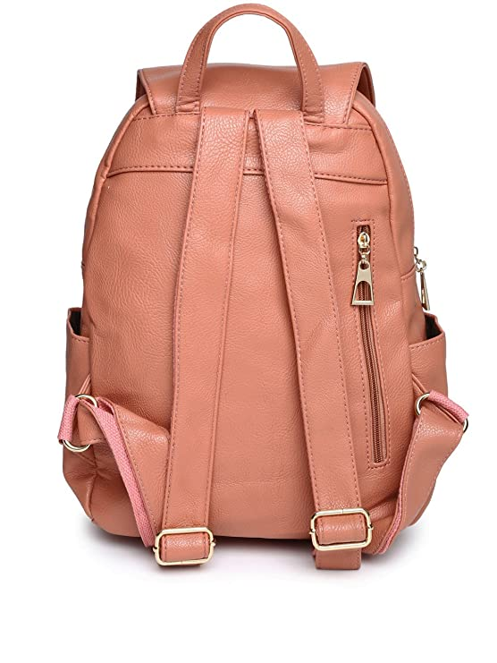 4efbdd3fd43 DressBerry Women Peach-Coloured Backpack (PINK): Amazon.in: Clothing ...