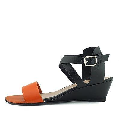 a1936fbd001f Kick Footwear Womens Wedge Heels Comfortable Leather Sandals  Amazon ...