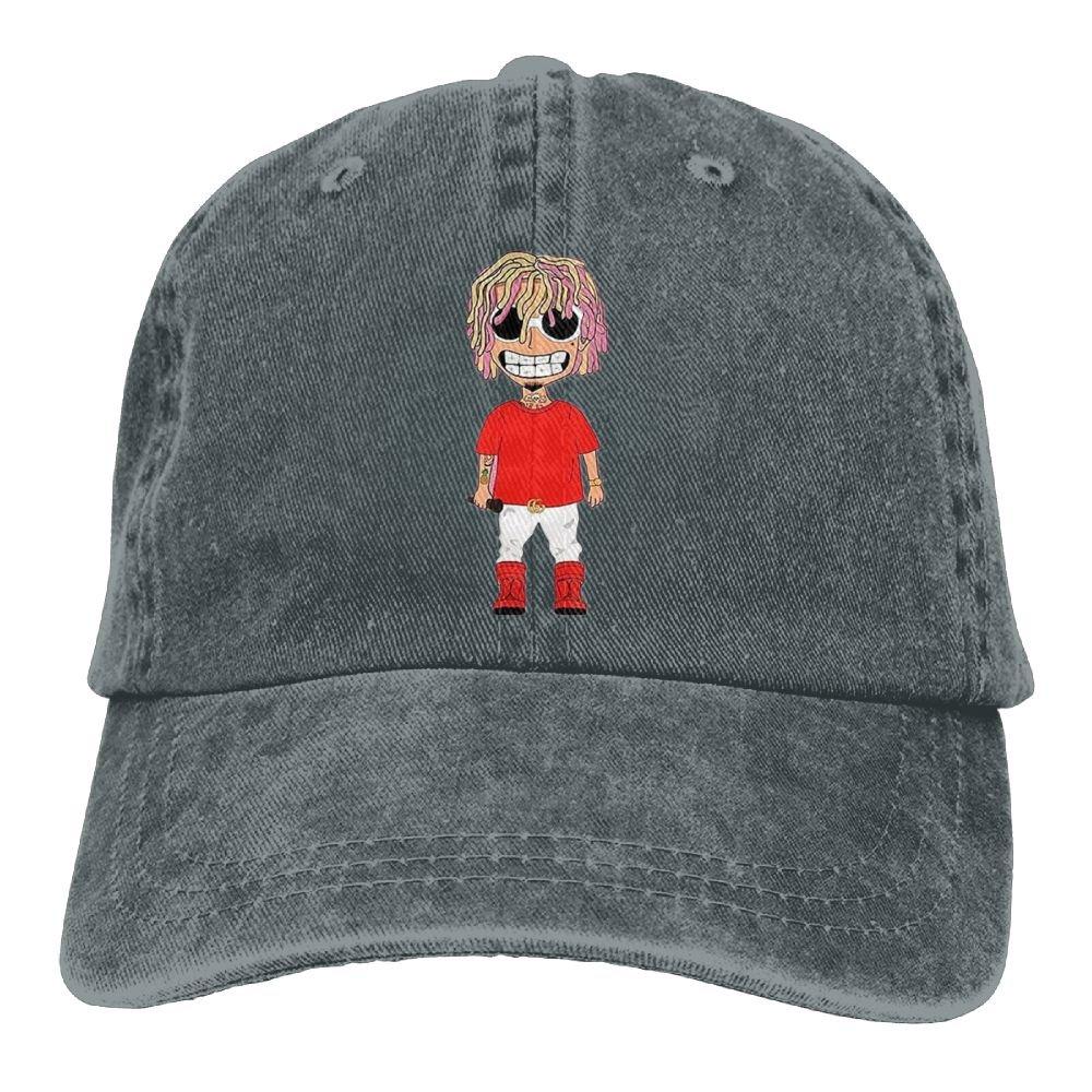 13d173ff744 Unisex Hat Smiling LIL Pump Gucci-Gang Snapback Curved Baseball Hats 100%  Cotton Adjustable Hip Hop Denim Caps For Mens Dad Cap With 8 Colors Retro -  Grey ...