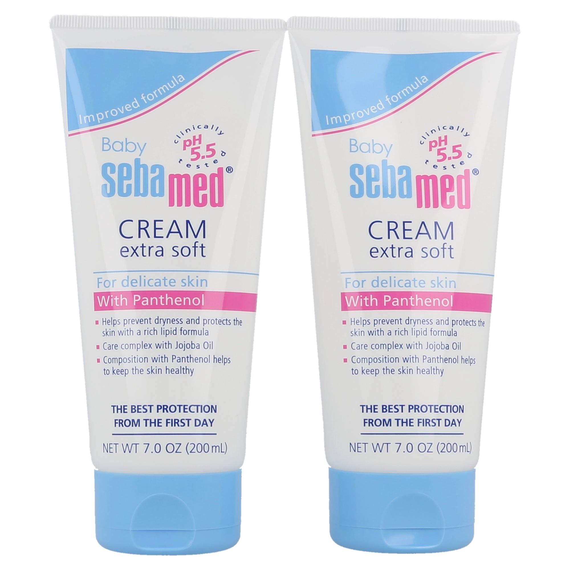 Sebamed Baby Cream Extra Soft Ultra Mild Moisturizer for Delicate Skin with Panthenol (200mL) Pack of 2 by SEBAMED