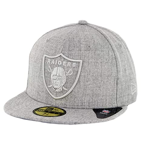 acc32ca7c Image Unavailable. Image not available for. Color  New Era 5950 Oakland  Raiders Twisted Frame Fitted Hat (Grey) Men s NFL Cap