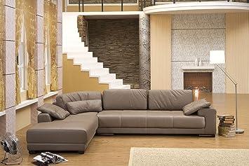 Mapo Möbel Design Voll Leder Ecksofa Sofa Garnitur Eckgruppe Couch