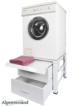 Untergestell für Waschmaschine Extra Hoch mit 2 Schubladen und ...