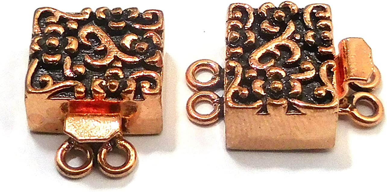 white gold Plated toggle clasps finding 2 strands Jewelry Making Findings 18mm
