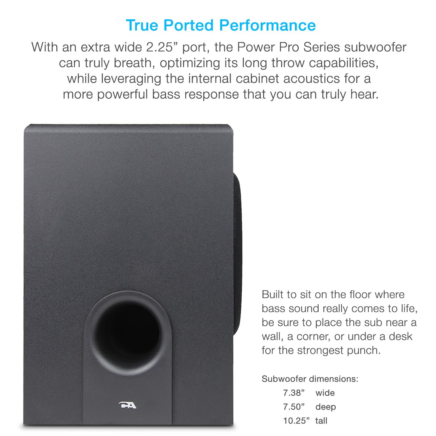Cyber Acoustics CA-3602a 62W Desktop Computer Speaker with Subwoofer - Perfect 2.1 Gaming and Multimedia PC speakers by Cyber Acoustics (Image #4)
