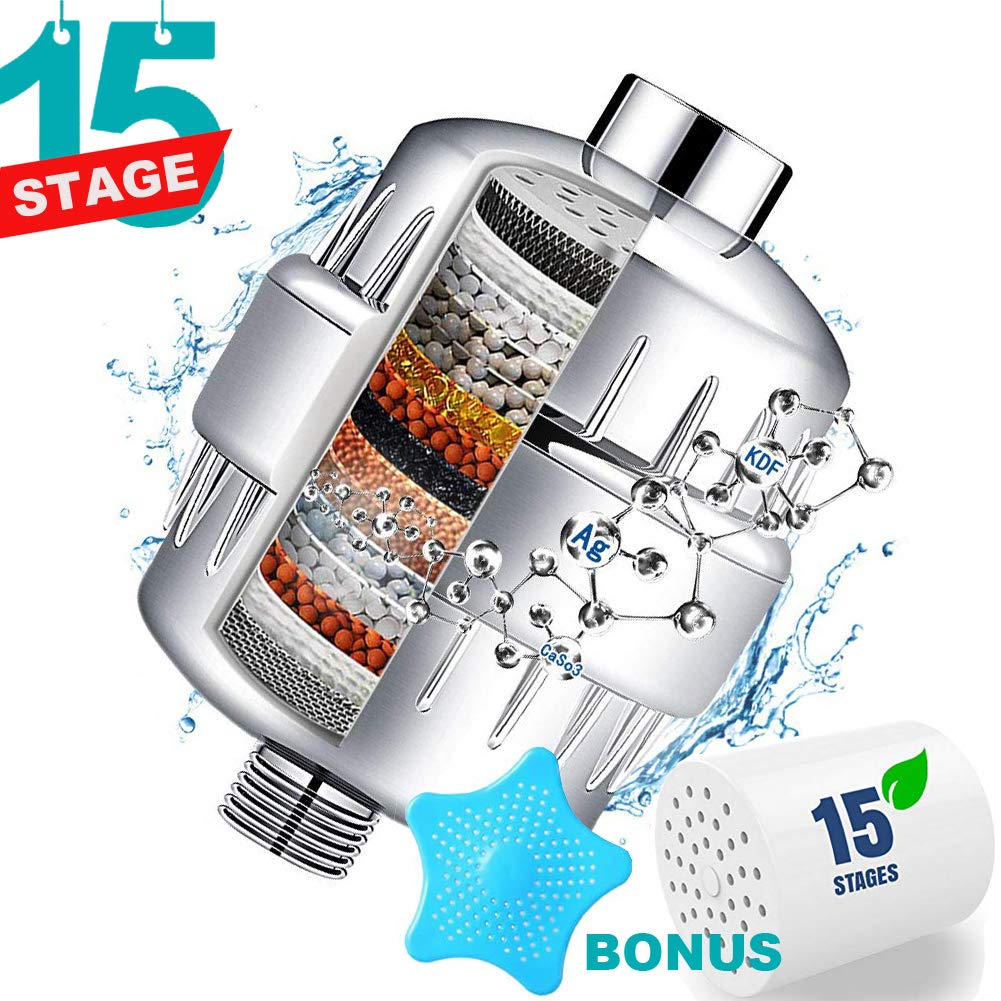 Shower Filter - Water Softener Shower Head Filter with 2 Replaceable Multi-Stage Filter Cartridges to Remove Chlorine, Heavy Metal by SKYWEE PROFESSIONAL PRODUCTS