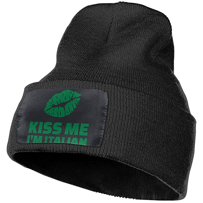 Kiss Me I m Italian Unisex Beanie Hat Warm Hats Skull Cap Knitted Hat at  Amazon Men s Clothing store  dad779216d7