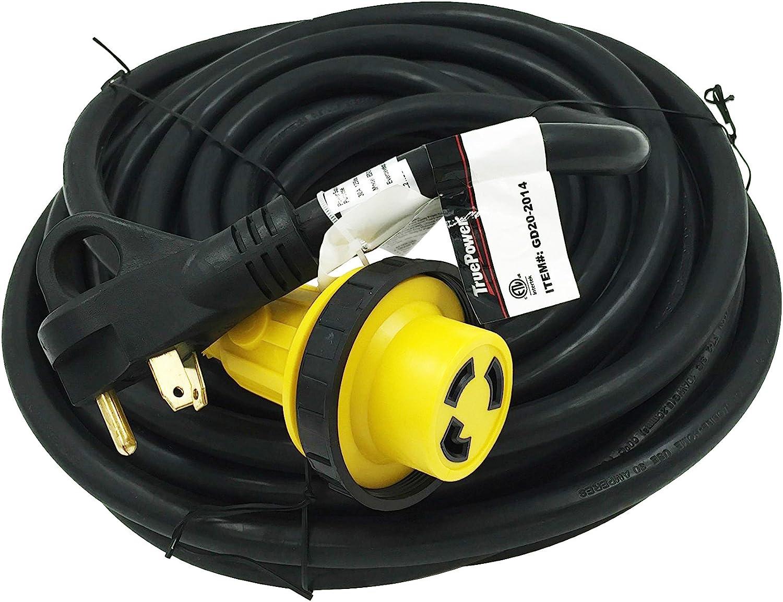 36 RV//Camper // Trailer // 5th Wheel Extension Cord w//Twist Lock 36 30 Amp TruePower NEW