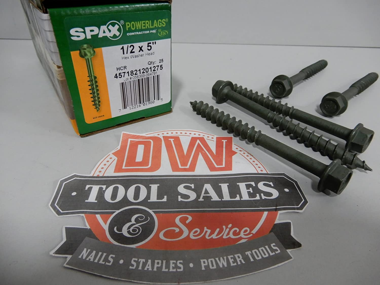 Powerlag Screw 100 Pieces per Pail Spax 3571821203040 1//2 x 12 Hex Drive Washer Head HCR Exterior