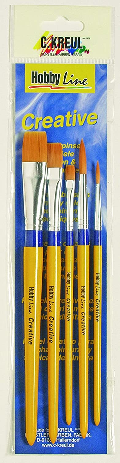 / Creative Synthetic Mixed Brush Set KREUL Hobby Line 723032/