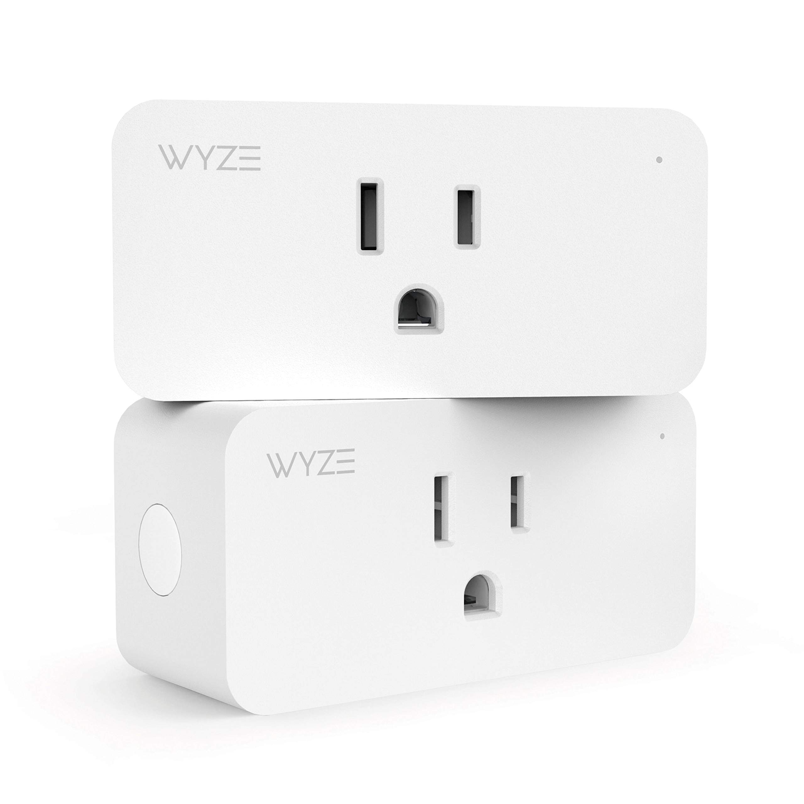 Wyze Labs Wlpp1 Smart Home WiFi Plug, Voice Assistant Controlled Alexa and Google Assistant Enabled with Timer and Vacation Mode, 2-Pack, White by Wyze Labs