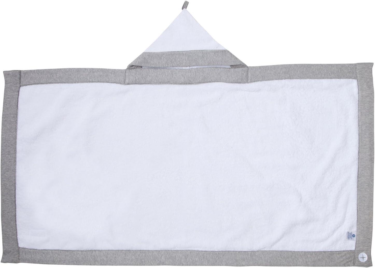 White//Grey Nordic Coast Baby Hooded Towel