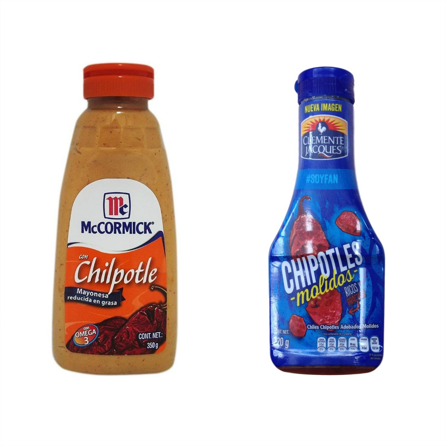 Amazon.com : Mayonnaise with Chipotle Sauce and Chipotles Molidos Clemente Jacques : Grocery & Gourmet Food