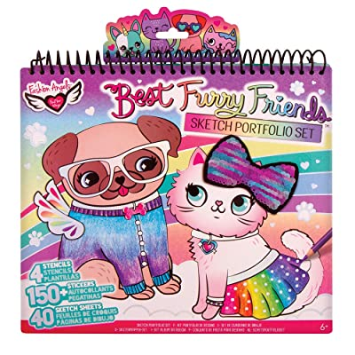 Fashion Angels Pet Lovers Fashion Full Size Sketch Portfolio, Style may vary: Toys & Games