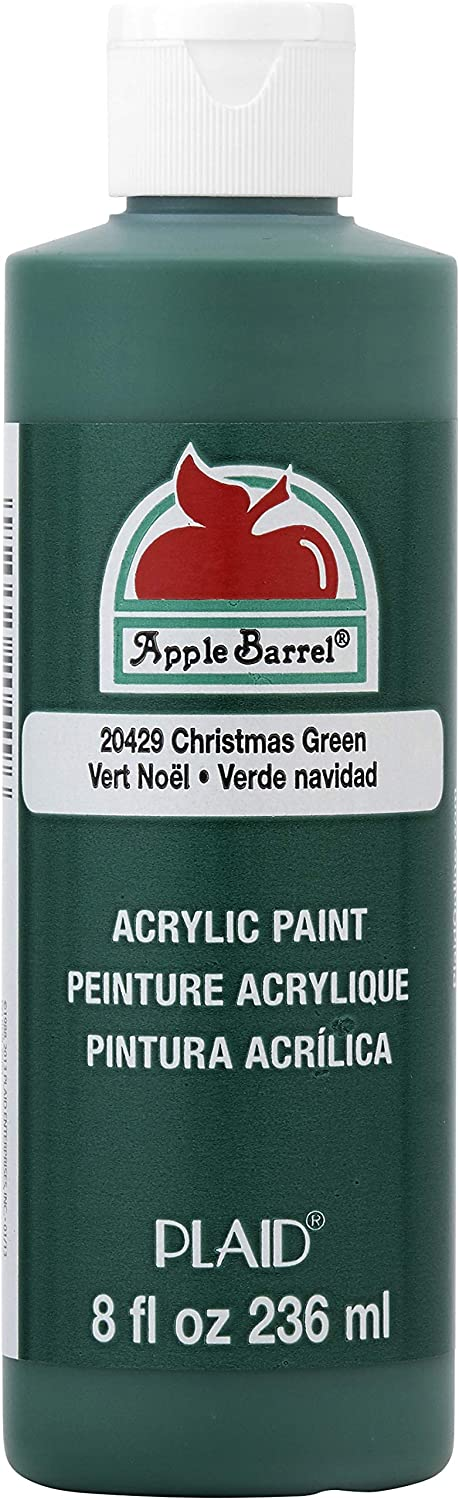 Apple Barrel Acrylic Paint in Assorted Colors (8 oz), 20429 Christmas Green