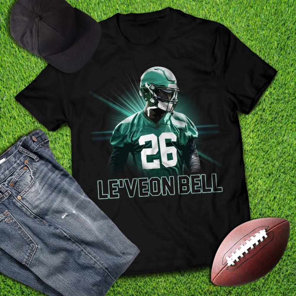 Bell No 26 New York Football Player Running Back Champions Customized Handmade T S Shirts