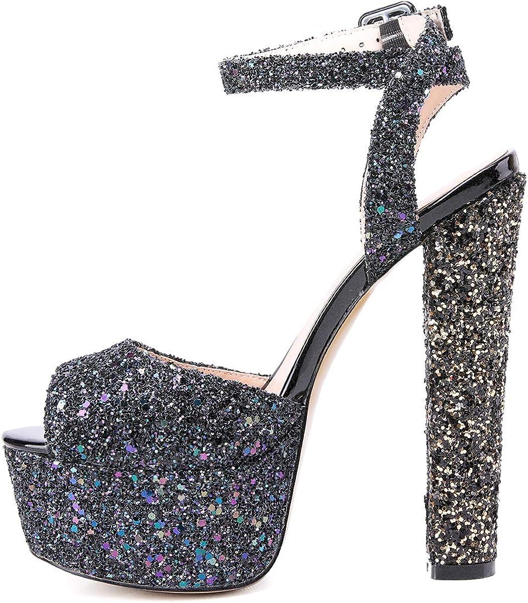 glitter platform heels cheap online