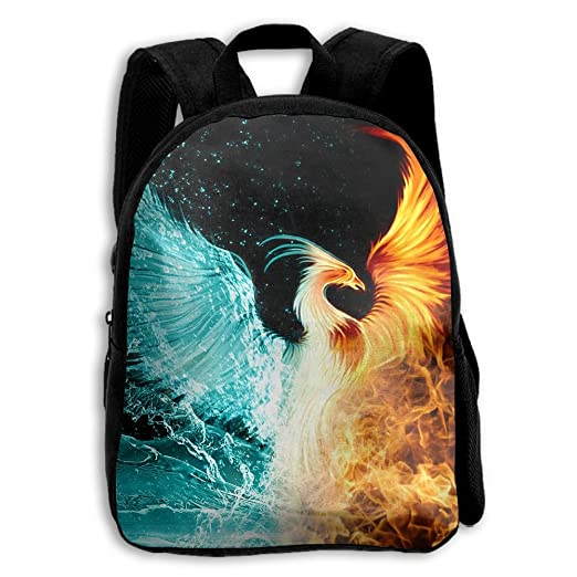 Image Unavailable. Image not available for. Color  Fire Ice Phoenix Casual  Funny Backpack School Bag Boys   Girls ... eef8b7ba01bda