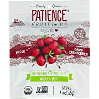 Patience Organic Whole & Juicy Dried Cranberries, Sweetened with Apple Juice, 113g