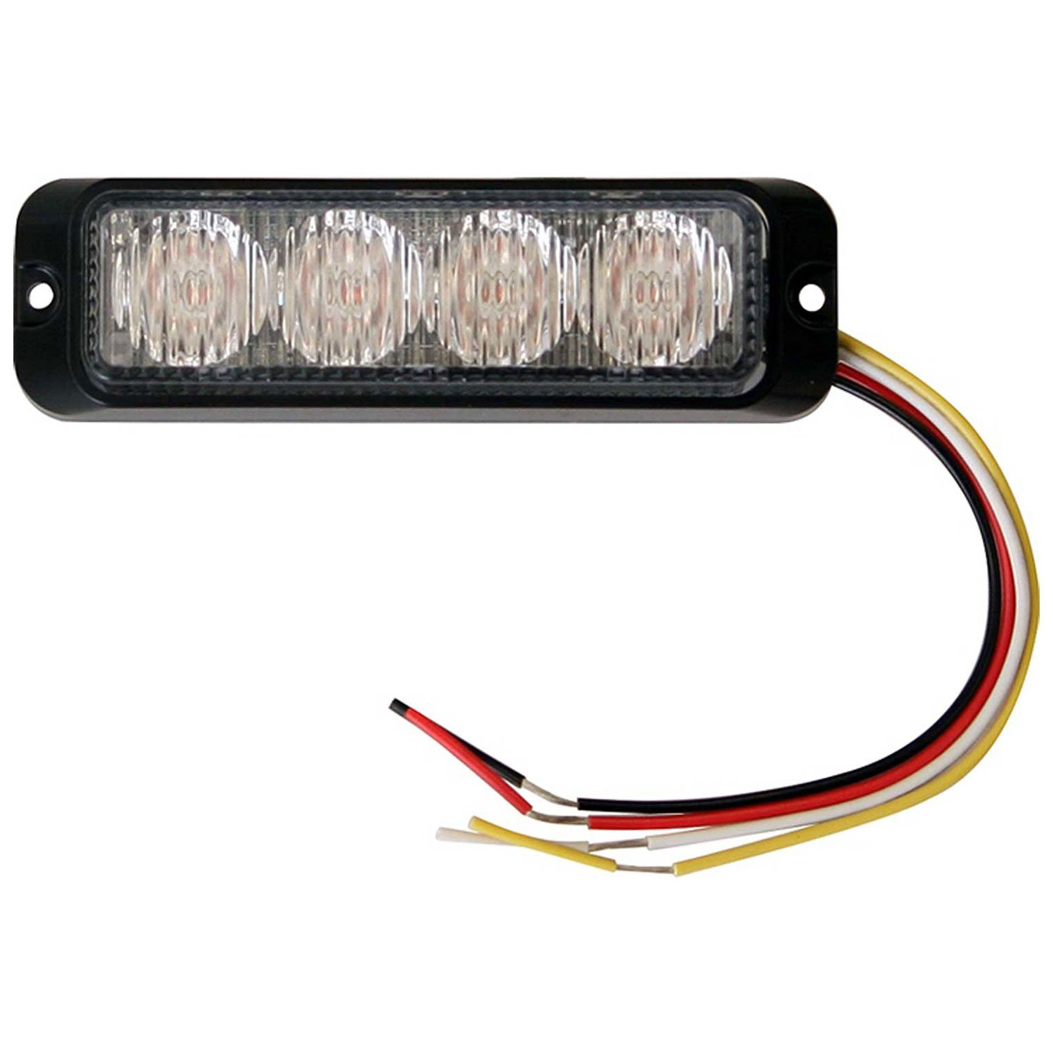 Buyers Products 8891131 Clear 4 LED Strobe Light (4-3/4in) by Buyers Products