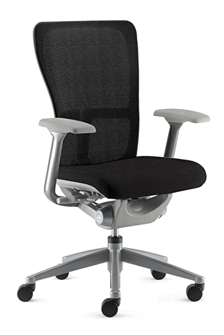bc6b8407dd72 Zody Chair by Haworth  Basic - Fixed Arms - Pneumatic Lift - Black Seat