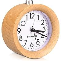Navaris Reloj Despertador analógico - Alarma Despertador
