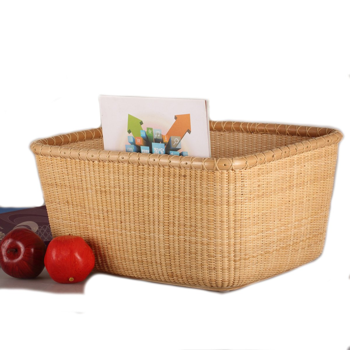 Tengtian Brand, Laundry Basket, Laundry Basket, Storage Basket, Rattan, Chinese Traditional Handicrafts, Casual Style, Natural Environmental Protection