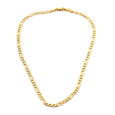 09d4a38328db1 Solid 9ct Gold Diamond Cut Figaro Chain Necklace Fathers Day ...