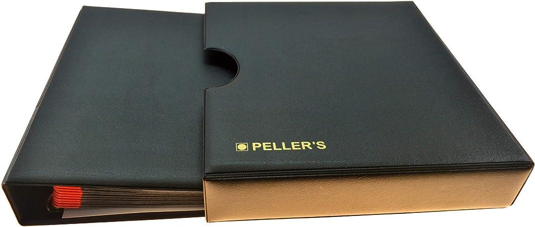 PELLERS Álbum de colección, 275 Monedas de tamaño Mix: Mediano y pequeño: Desde céntimos de Euro hasta € 2, 10 Fundas y cartulinas separadoras, Negro, Modelo M con Cajetin: Amazon.es: Hogar