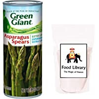 FOOD LIBRARY THE MAGIC OF NATURE Giant Long Asparagus Spears (Green), 425 g and Rock Salt (Sendha Namak), 200 g Combo