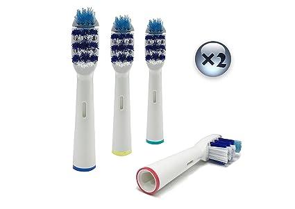 UCA® EB30-4 - 8pcs cabezales para cepillo de dientes eléctrico de repuesto compatible