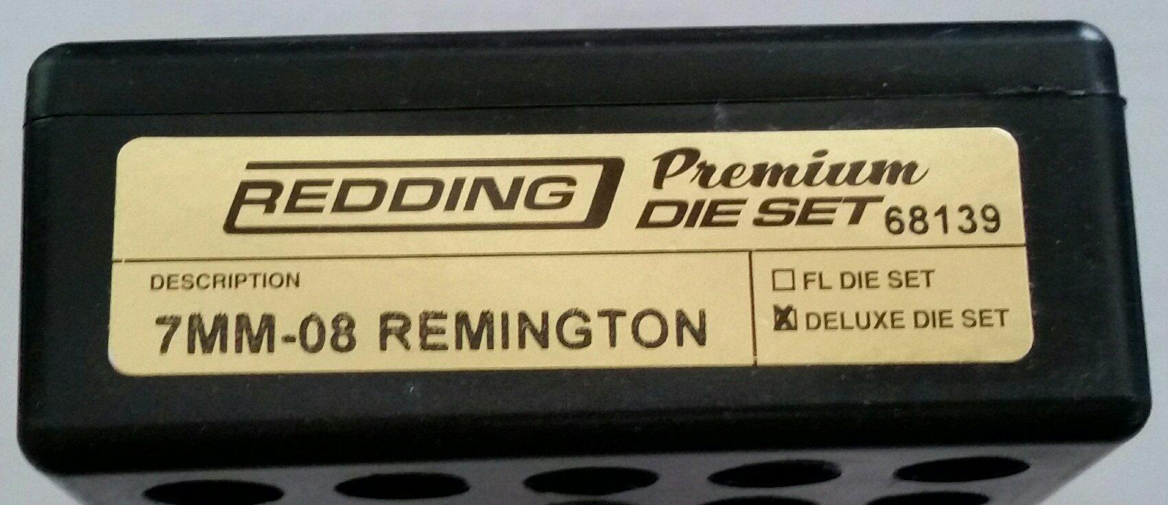 Redding Premium Series Deluxe 3-Die Set 7mm-08 Remington