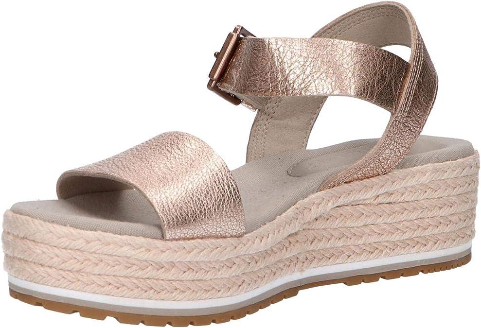Santorini Sun Ankle Strap Sandal Rose Gold Full Grain