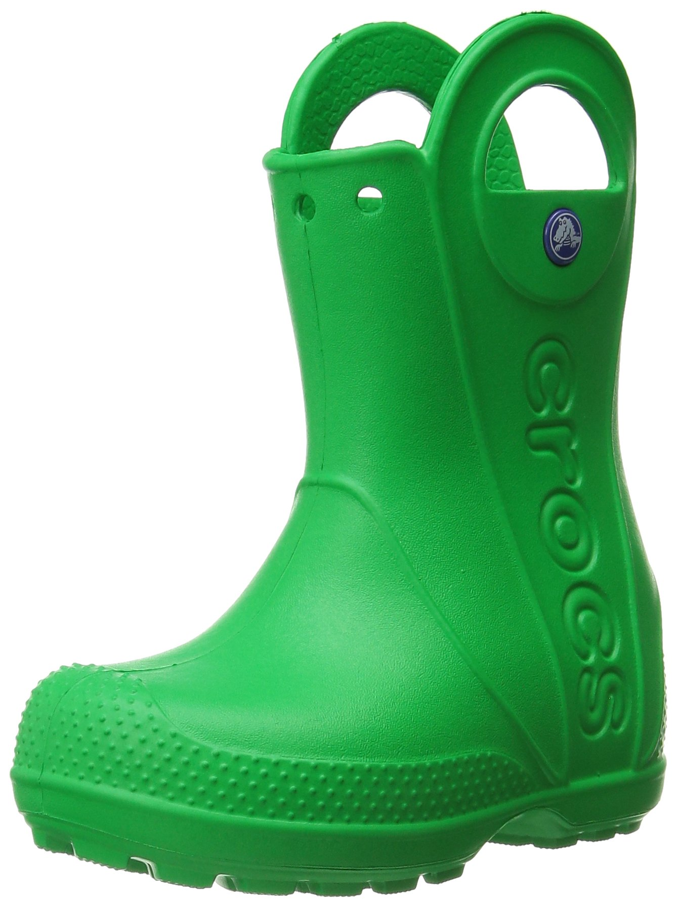 Crocs Kids' Handle It Rain Boots, Easy On for Toddlers, Boys, Girls, Lightweight and Waterproof, Grass Green, 9 M US Toddler