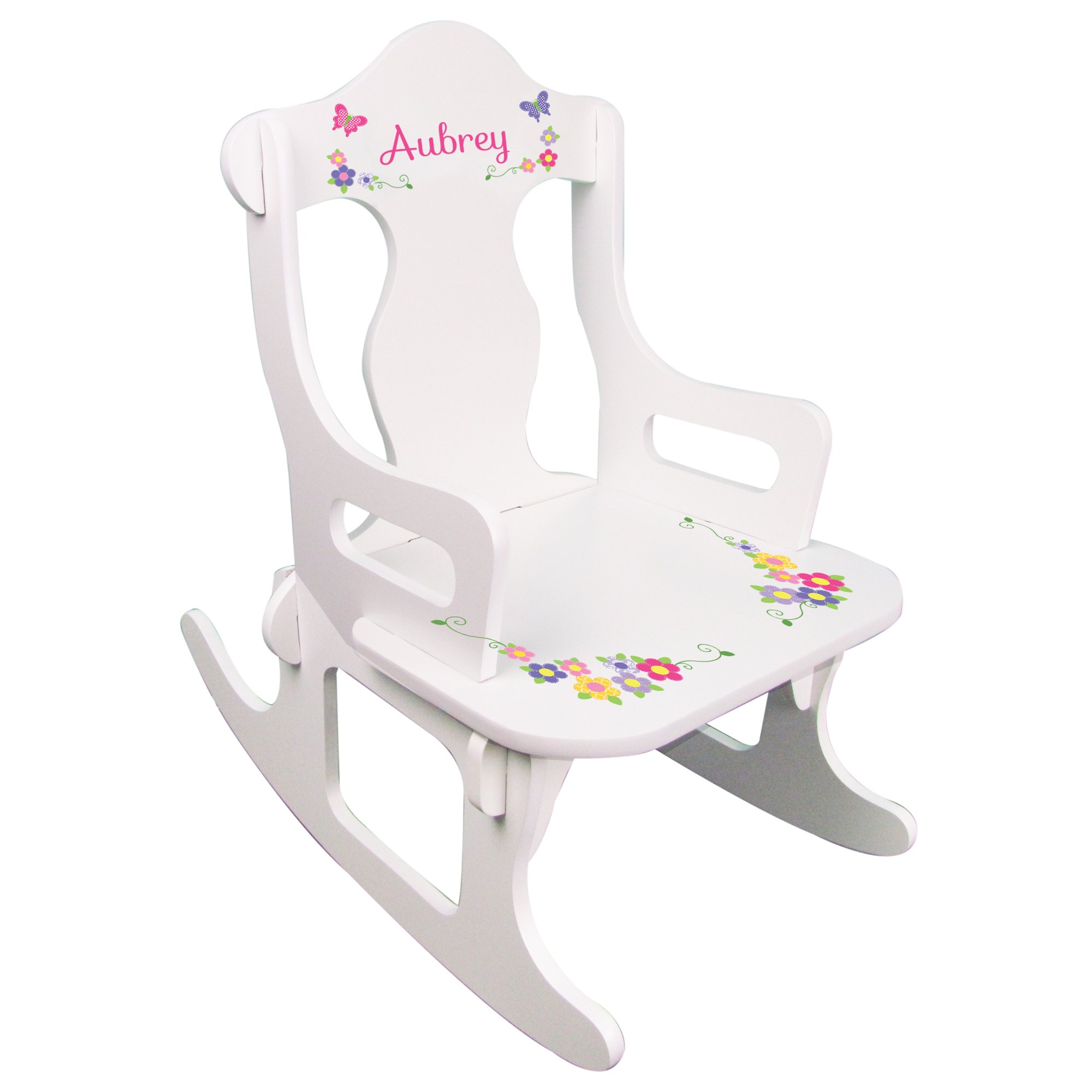 Personalized Child's Butterrfly Puzzle Rocking Chair