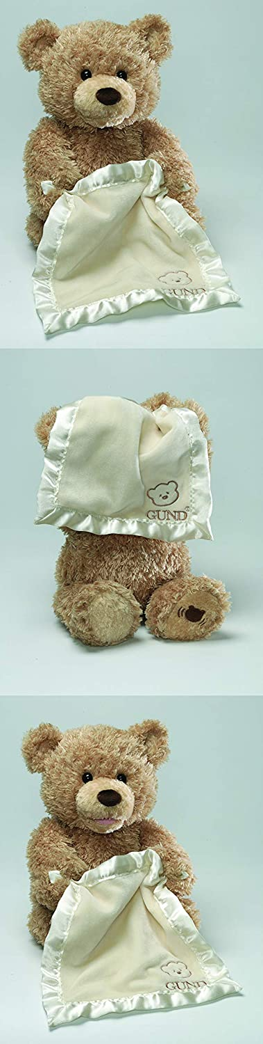 "GUND Peek-A-Boo Teddy Bear Animated Stuffed Animal Plush, 11.5"": Toy: Toys & Games"