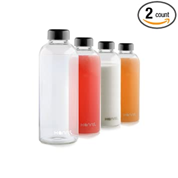 Amazoncom Glass Water Bottles 32 oz by Kanrel Best Bottle on