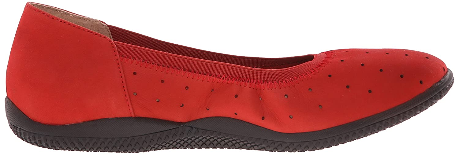 SoftWalk Women's Hampshire Ballet Flat B011EXIT68 6.5 W US|Red